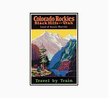 Colorado Rockies Travel Poster T-Shirt