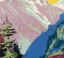 Colorado Rockies Travel Poster Sticker