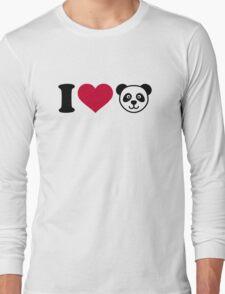 I love Panda Bear Long Sleeve T-Shirt