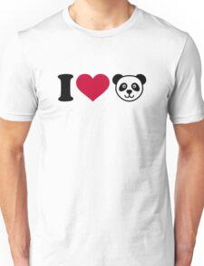 I love Panda Bear Unisex T-Shirt