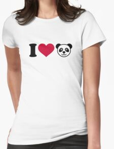 I love Panda Bear Womens Fitted T-Shirt