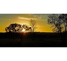 Sunset on Willow Wood Golf Course in North Dakota Photographic Print