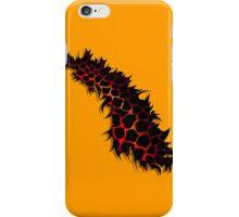 Red Leopard Print Ripped Tear Design  iPhone Case/Skin