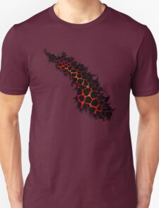 Red Leopard Print Ripped Tear Design  Unisex T-Shirt