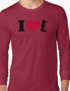 I love Penguin Long Sleeve T-Shirt
