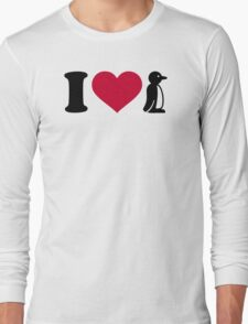 I love Penguin Long Sleeve T-Shirt