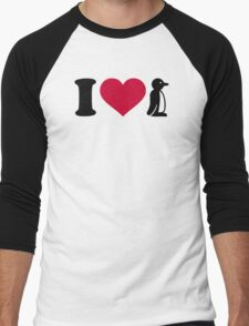 I love Penguin Men's Baseball ¾ T-Shirt