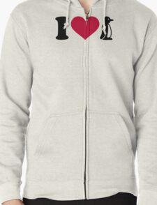 I love Penguin Zipped Hoodie