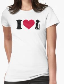 I love Penguin Womens Fitted T-Shirt