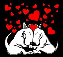 Bull Terriers In Love by Sookiesooker