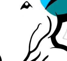 Aqua Ears English Bull Terrier Puppy Sticker