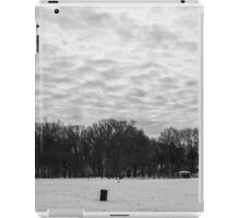 Textured Clouds Over Snow iPad Case/Skin