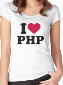 I love php Women's Fitted Scoop T-Shirt