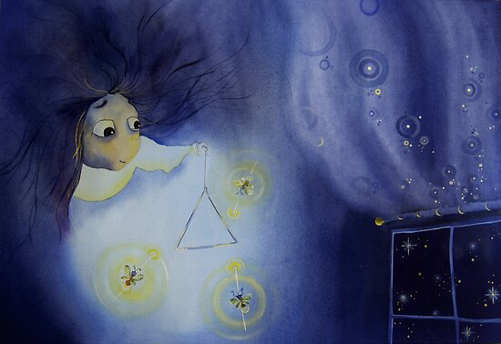 Music and Fireflies at Night by Chava  Light