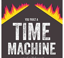Cinema Obscura Series - Back to the future - Time Machine by Geoff Bloom
