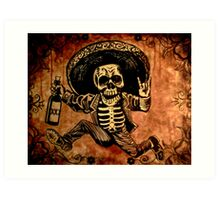 Posada Day of the Dead Outlaw Art Print