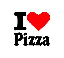 I love Pizza Photographic Print