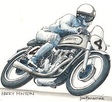Harry Hinton Manx Norton by John Ballantyne