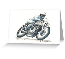 Harry Hinton Manx Norton Greeting Card