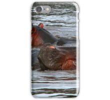 Happy Hippo's in Africa iPhone Case/Skin