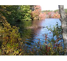 Autumn in Rhode Island | Barbers Pond Shallows Photographic Print