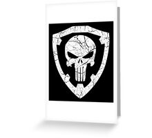 Punisher Crest Greeting Card