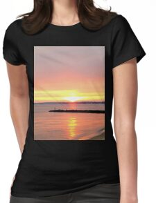 Beautiful Sunset on the Beach Womens Fitted T-Shirt
