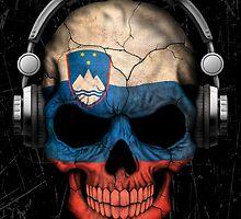Dj Skull with Slovenian Flag by Jeff Bartels