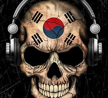 Dj Skull with South Korean Flag by Jeff Bartels