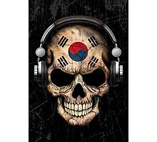 Dj Skull with South Korean Flag Photographic Print
