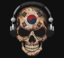 Dj Skull with South Korean Flag Baby Tee