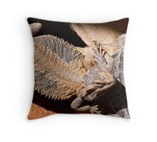 Alice Springs Lizards Throw Pillow