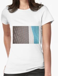 Houston Abstract 1 Womens Fitted T-Shirt