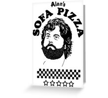 Superstar is Alan's Sofa Pizza new Greeting Card
