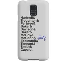 DOCTOR WHO THE DOCTORS' NAMES Samsung Galaxy Case/Skin