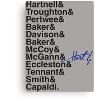 DOCTOR WHO THE DOCTORS' NAMES Canvas Print