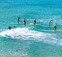 Paddleboarding, Point Danger, Torquay, Australia by Andy Berry
