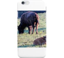 Bison with Calf iPhone Case/Skin
