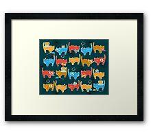 Geek Chic Cats Framed Print