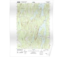 Maine USGS Historical Map Fayette 20110829 TM Poster