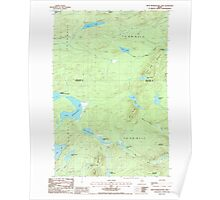 Maine USGS Historical Map Fifth Musquacook Lake 105134 1986 24000 Poster