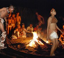 San (Kalahari) Bushmen Healing Ceremony Collage, Botswana, Africa by Adrian Paul