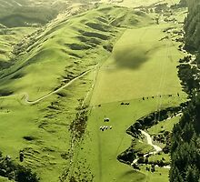 Transmisson Gully aerial photograph  New Zealand by Mark Hill