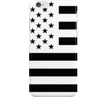 Black and White USA Flag iPhone Case/Skin