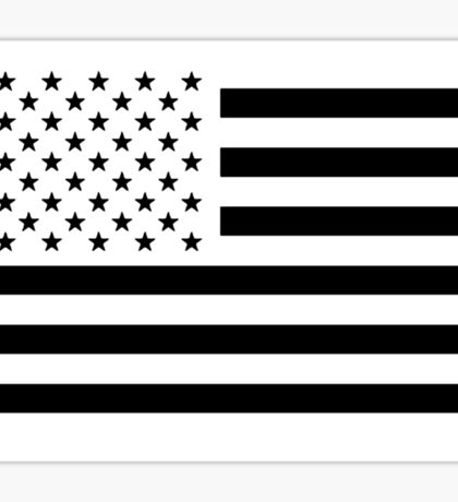 Black and White USA Flag Sticker