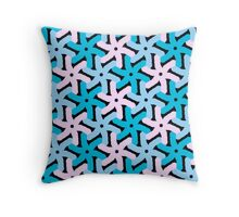 PASTEL pattern, PINK and BLUE Throw Pillow