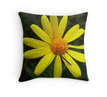 Resting on yellow Throw Pillow