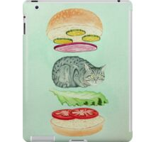 Catsup - Cat Burger Delight! iPad Case/Skin