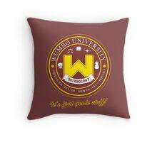 Wumbo University crest Throw Pillow