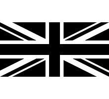 Black and White UK Flag Photographic Print